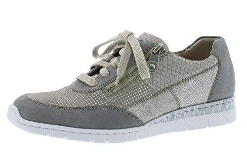 Damen Frost N5320 Cement Sneaker Rieker Fog Staub Grau Grau BdwY7x