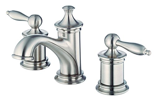 (Danze D304110BN Prince Two Handle Mini-Widespread Lavatory Faucet, Brushed Nickel)