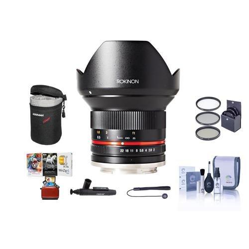 Rokinon 12mm f/2.0 NCS CS Lens Manual Focus Lens Canon M Mir