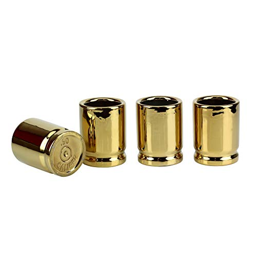 Barbuzzo 50 Caliber Shot Glass - Set of 4 Shot Glasses Shaped like Bullet Casings - Step up to the Bar, Line 'Em Up, and Take Your Best Shot - Great Addition to the Mancave - Each Shot Holds 2-Ounces by Barbuzzo (Image #14)
