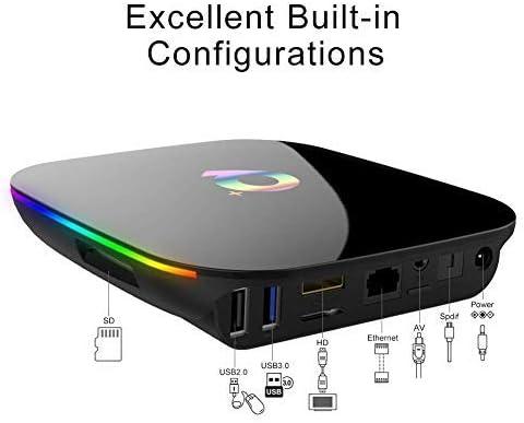 Android TV Box 9.0,HOMI Q Plus Android Box 4GB RAM 32GB ROM H6 Quad Core Cortex-A53 Smart TV Box soporta 6K de resoluci/ón 3D 2.4GHz WiFi Ethernet USB 3.0 Media Player