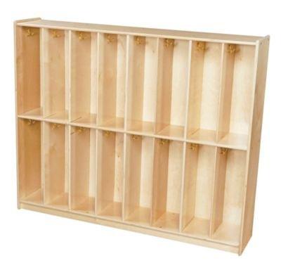 Birch Twin Bookcase - Wood Designs Contender Baltic Birch Twin Trim Locker Unit