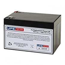 Enersys NP12-12 12V 12Ah Sealed Lead Acid Replacement Battery with F2 Terminals by UPS Battery Center