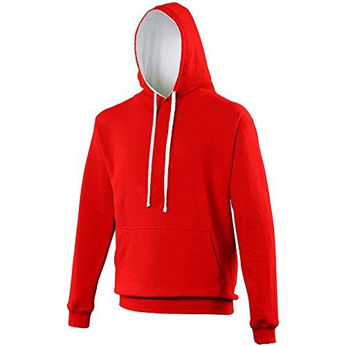 Homme Awdis Sweatshirt Vif Capuche À Blanc Rouge U8twp8