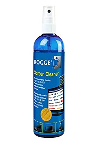 ROGGE Screen Cleaner Pump Spray Bottle 250 ml - For all LED / LCD / OLED / Plasma TV, Computer Monitor, Tablet, Laptop, Phone Screens, Optical Lenses and Devices