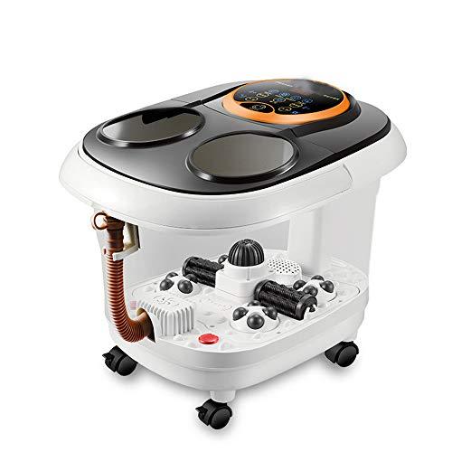 AIWO Foot Spa Machine, Foot Massager Shiatsu Massage with Heat Bubble Jets Tai Chi Roller Ball Red Light Heat LED Display Remote Control Foot Bath Relaxation