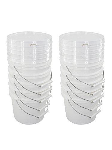 Bucket Kit, Ten 1 Gallon Buckets with White Snap-on ()