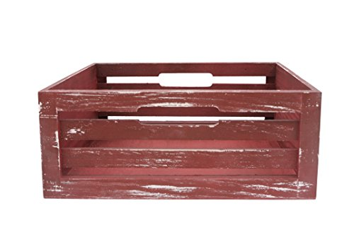 Wald Imports Red Wood  Decorative Storage Crate by Wald Imports