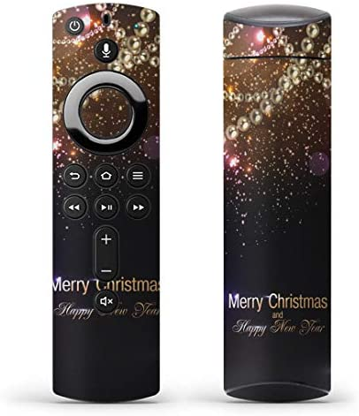 igsticker Fire TV Stick 第2世代 専用 リモコン用 全面 スキンシール フル 背面 側面 正面 ステッカー ケース 保護シール 005460 ラグジュアリー きらきら クリスマス