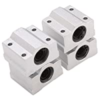 BQLZR SCS8UU Linear Motion Ball Bearing CNC Slide Bushing & 8mm CNC Linear Rail Shaft Guide Support & Linear Motion 8 mm Shaft 300mm Length by BQLZR