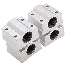 BQLZR SCS8UU Linear Motion Ball Bearing CNC Slide Bushing 34.5mm Length Pack Of 4