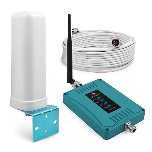 ANNTLENT Cell Phone Signal Booster 700MHz for AT&T Verizon 4G LTE GSM Repeater Mobile Amplifier CDMA 850mhz 1900mhz AWS 1700mhz for Multi Network Provider (Right Angle+Omnidirectional Antenna) by ANNTLENT
