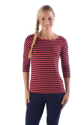 kbt1120-large-mandarin-navy-striped-bamboodreams-kai-3-4-sleeve-boatneck-narrow-mandarin-narrow-navy