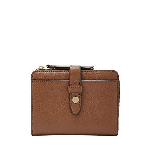 Fossil Ladies Brown Leather - Fossil Fiona Multifunction Wallet, Brown