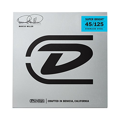 dunlop-dbmms45125-marcus-miller-super-bright-bass-strings-medium-5-string-045125-5-strings-set
