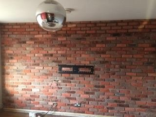 red Brick effect wall tile vintage 18th century reclaimed look
