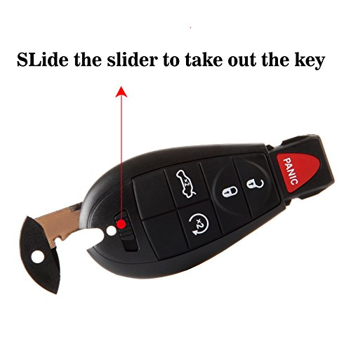 ECCPP Replacement fit for 2X 5 Button Keyless Entry Remote Key Fob Jeep Dodge Chrysler Series M3N5WY783X IYZ-C01C