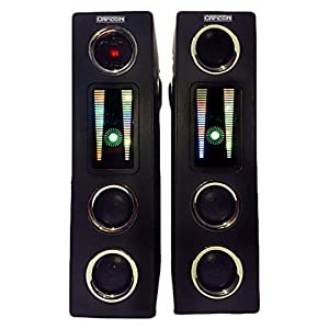 Capicon Multimedia Tower Speaker with Bluetooth/FM/Aux/USB Port(Model-7474_Black) Dual 8 inch woofer