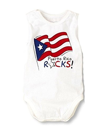 Puerto Rico Flag Dress (StylesILove Baby Boy Country Flag Design Cotton Jumpsuit, 3 Styles (6-12 Months, Puerto Rico), Tag Size:80)