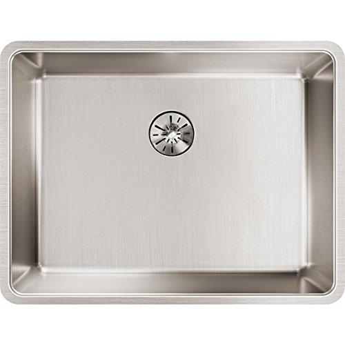 Elkay Lustertone Iconix ETRU21159PD Single Bowl Undermount Stainless Steel Sink with Perfect Drain - Elkay Undermount Bathroom Sink