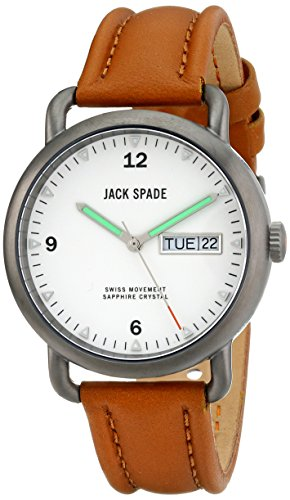 Jack Spade Men's WURU0119 Stillwell Stainless Steel Watch with Tan Leather Band (Jack Spade Watch)