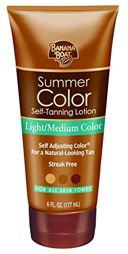 Banana Boat Self Tanning Sunless Lotion for a Natural Looking Tan, Light Medium, 6 Ounce