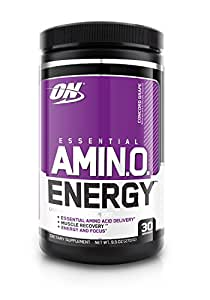 Optimum Nutrition Amino Energy, Concord Grape, Preworkout and Essential Amino Acids,with Green Tea and Green Coffee Extract, 30 Servings