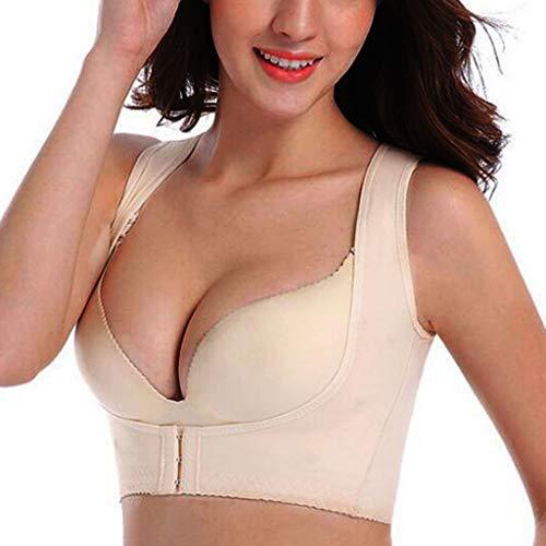 - Landscap Posture Corrector Shapewear Women Chest Brace Upper Arm Shaper Back Brace Corset Strap Vest (Khaki,S)