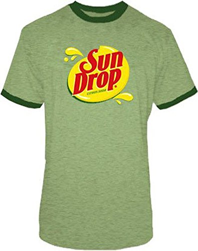 [Sun Drop Citrus Soda Green Costume Mens T-shirt (Adult Small)] (Tv Commercial Costumes Halloween)