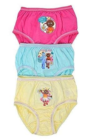 Aumsaa Girls Kids Characters 100% Cotton Briefs Underwear Slips Knickers 3  Pack