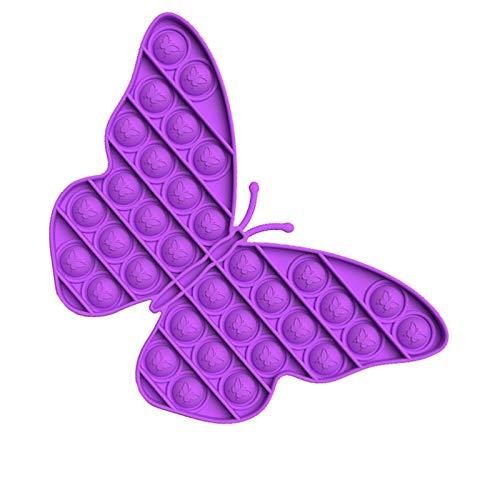 "Sensory Pop Toy, Push Bubble Extrusion Stress Relief Squeeze Decompression Accessory (Purple Butterfly, 20.4cmx13.3cmx1.5cm/8.03""x5.24""x0.59"")"