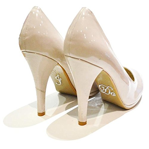 I Do Argent Cristal pour chaussures de mariage Stickers Crystal. Fun stickers. Idéal pour mariages, etc. wonkydragon.com wogosilverido