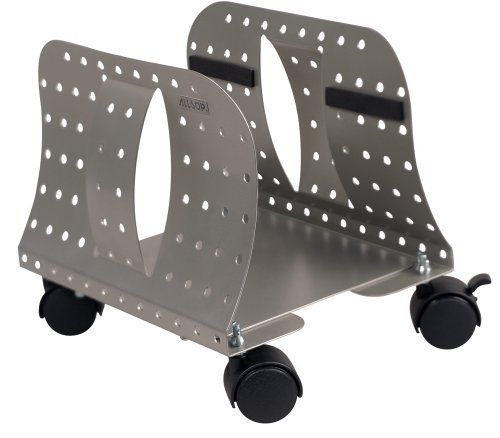 Allsop. Metal Art CPU Caddy, Adjustable Width Mobile Computer Stand with 4 Caster Wheels - Pewter (27761) (Limited Edition) by Allsop.