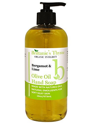 Bergamot & Lime Olive Oil Hand Soap - Cruelty Free, Vegan, Gluten Free, All Natural
