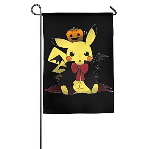 Halloween Pikachu Halloween Gift Idea Decorative Garden Flag And Yard Banner (Halloween Sports Pranks)