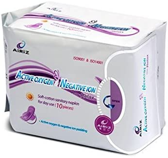 Airiz Active Oxygen and Negative Ion Sanitary Napkin for Day Use-Relax-10 Pieces Sanitary Napkins at amazon