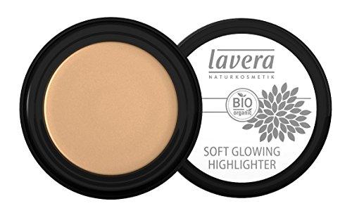 lavera Soft Glowing Highlighter ∙ Farbe Golden Shine ∙ Schimmer für Augen & Wangen ∙ Natural & innovative Make up ✔ vegan ✔ Bio Pflanzenwirkstoffe ✔ Naturkosmetik ✔ Augen Kosmetik 1er Pack (1 x 4 g)