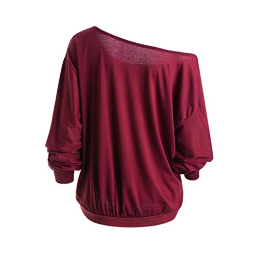 Tops Winter Halloween Sleeve Shirt Demon Skew Plus VJGOAL Angry Neck Wine Pumpkin Long Blouse Sweatshirt T Autumn Top Red Womens Size Theme aA0xqZ0E
