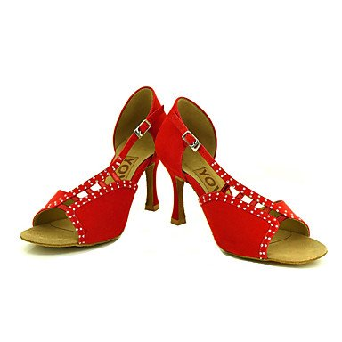 Rojo de Amarillo Tacón Zapatos Personalizables Latino Yellow Personalizado baile Salsa Negro wU4FIAxq