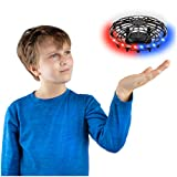 Force1 Scoot 2 LED Hand Drones for Kids - Kids Drone, Flying Ball Drone, Light Up Toys for Boys and Girls (Matte Black)