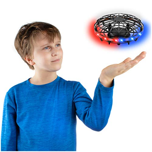 Force1 Scoot LED Hand Drone for Kids – Kids Drone, Flying Ball Drone, Light Up Toys for Boys and Girls (Matte Black)