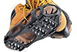 Kongland Shoes Protector Walk Traction Cleats on Ice and Snow, One Pair Elastic Rubber with Steel Cleats for Climbing and Hiking, Snow Cleats for Better Balance and Grip, Size M