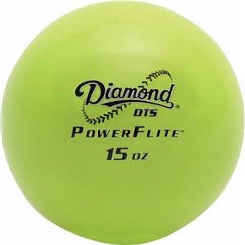 Diamond DTS Power Flite Weighted Hitting Training Balls Baseballs 6 pack ()