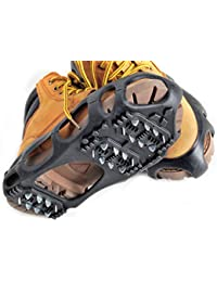 Shoes Protector Walk Traction Cleats on Ice and Snow, One Pair Elastic Rubber with Steel Cleats for Climbing and Hiking, Snow Cleats for Better Balance and Grip