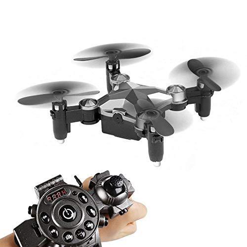 connotación de lujo discreta LWRJQC Mini Drone cámara HD Helicóptero RC RC RC Modo sin Cabeza FPV Selfie Quadcopter 6-Axis Watch Style Pocket  apresurado a ver