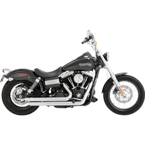 Vance and Hines Big Shots Staggered Full System Exhaust for Harley Davidson 201 - One Size (1 Full System Exhaust)