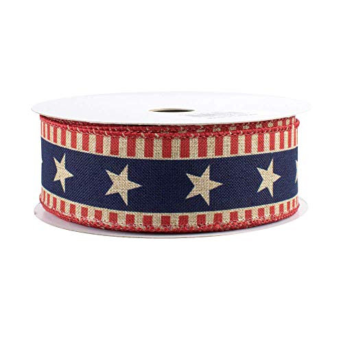(Stars and Bars Patriotic Ribbon - 1 1/2