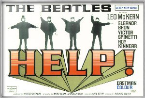 Help - Framed Movie Poster / Print The Beatles By Stop Online