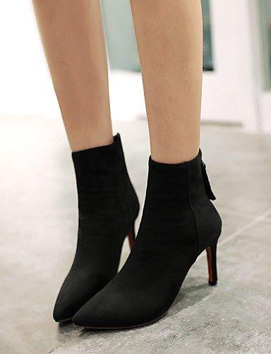 Ante Cn36 Mujer Gray negro Tacón Botas De Cn39 Trabajo Y Noche Puntiagudos us8 Sintético Fiesta Black Oficina Uk6 Eu36 Vestido Casual Stiletto Xzz Uk4 Zapatos us6 Eu39 Ff6wpp