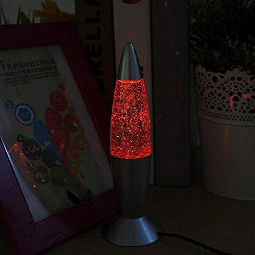Cikuso 3D Dispersion Parpadeante Lampara de Lava Classic Lava Lights USB Luces para Laptop Luces de Cohete